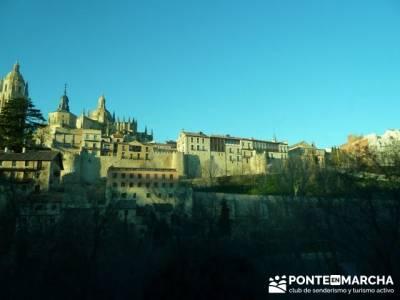 Senderismo Segovia - Riberas de los ríos Pirón y Viejo; senderos cuenca; sierra oeste de madrid